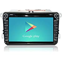 radio stereo 4.4 Car Android VW Passat B6 golf 5 Quad Core 8 pollici 1024 * 600 Car DVD Double GPS Din di navigazione OBD DVR includere can bus