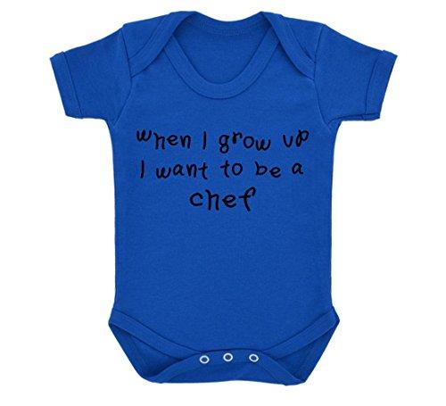 t To Be A Chef Design Baby Body Royal Blau mit schwarzem Print Gr. 6-12 Monate, königsblau ()