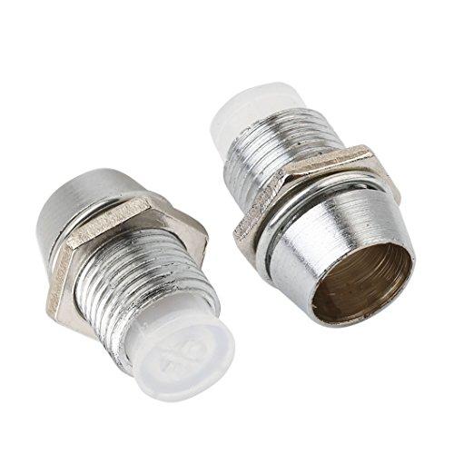 E-outstanding 25 Stück Kupfer 5 mm Leuchtdiode LED Lünette Halter - Runde Lampe Emiting Diode Mount Panel Display Socket Base 5mm Diode Holder -