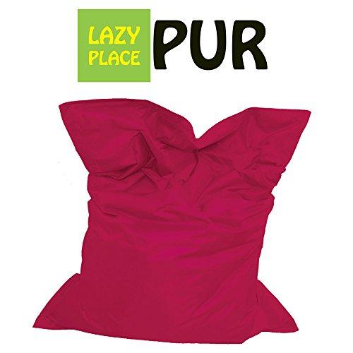 Lazy Place Pur XXL Sitzsack Outdoor mit EPS Sitzsack Füllung, ca.140 x 180 cm, Neu (pink)