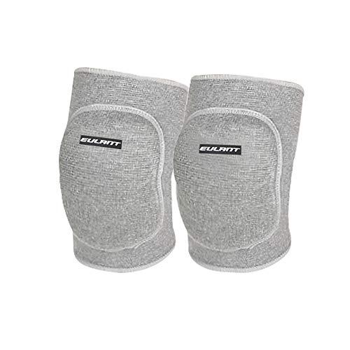 EULANT Kinder Protektoren, 1 Paar Kinder Kniebandage Knieschoner Dehnbar Baumwolle Ellenbogenschützer Kinder zum Sport Tanzen (Grau/S)