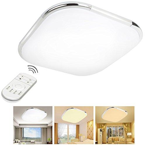 Télécommande lumière LED 12W 30,5cm Dimmable 3000K–6500K LED Montage encastré au plafond lumières pour cuisine salle à manger Salon 3s3030ty