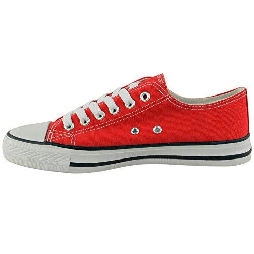 MYSHOESTORE  Canvas, Damen Sneaker Weiß weiß Rot