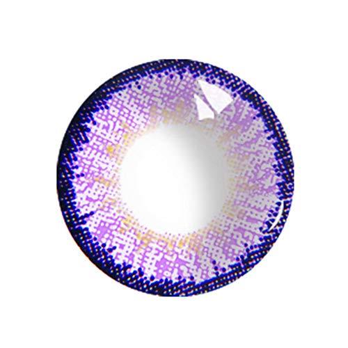 (2PCS Farbige kosmetische Kawaii Kontaktlinsen Halloween Cosplay Große Augen Mädchen Stil Kontaktlinsen Großes Auge)