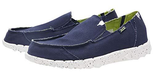 Dude Shoes Men Es Farty Funk Navy Lime UK12 / EU46