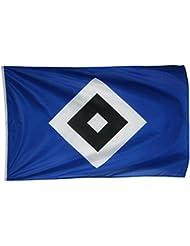 HSV Flagge Schrebergarten mit Raute Fahne 120 x 180 cm + Fahrradaufkleber