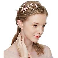 Flor de la boda pinza de pelo diadema rhinestone hoja de pelo de cristal accesorios para el cabello diadema nupcial tiara vendas nupciales de la vid de la vendimia HWMJ605