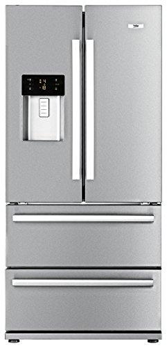 Beko GNE 60520 DX Kühl-/Gefrierkombination / A+ / 1,236 kWh / Kühlen: 383 L / Gefrieren: 149 L / Edelstahl / No Frost / Wasser- und Eiswürfelspender / French Door / 0°-Zone / Festwasseranschluss
