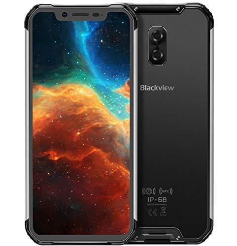 (2019) Blackview BV9600, 4G Outdoor Smartphone ohne Vertrag, IP68 Handy Android 9.0, Helio P70 4 GB + 64 GB, 6,21\'\' FHD+ AMOLED-Bildschirm, DUAL SIM, NFC, 16 MP + 8 MP, kabellose Aufladung - Schwarz