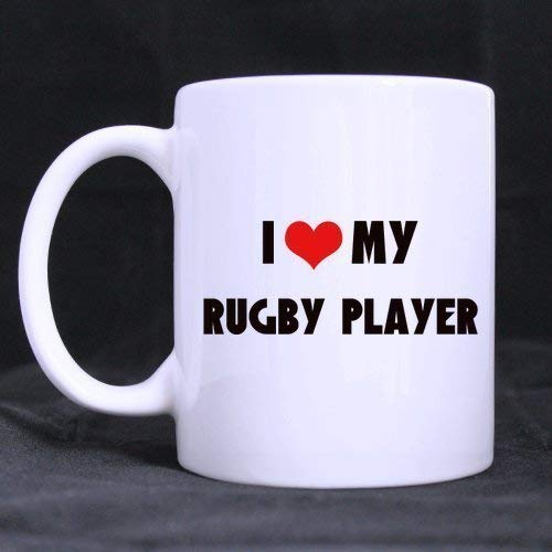 Teacoffee Love White 100Ceramic Rugby Cup I My Ounce Players 11 Gifts Funny Saying New Player Mug Yearchristmas Day 8wONnym0v