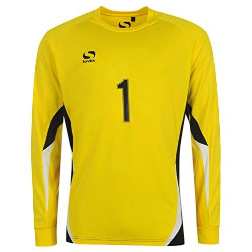 Sondico Core Kinder Torwart Fussball T Shirt Tee Top Langarm Rundhals Trikot 11-12 (LB)