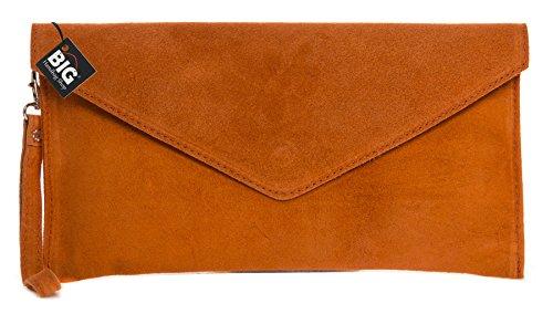 Big Handbag Shop, Borsetta da polso donna One Arancione (arancione)