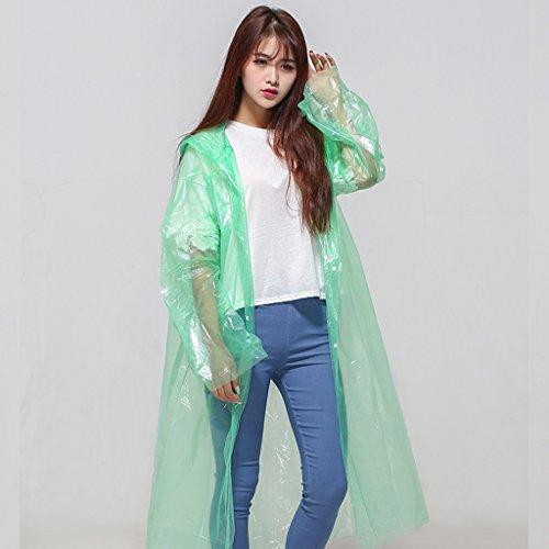 Erwachsener Mantel Regenmantel Poncho Eva Grün Translucent Regenmantel Outdoor Wandern Regenmantel Einmal Regenmantel ( farbe : Gelb ) Grün