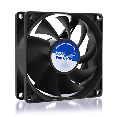 AAB Cooling Super Silent Fan 8 Pro - Un Silencioso y Muy Efectivo Ventilador 80mm | Ventilador Laptop | Fan Cooler 8cm | Ventilador 12V | 63m3/h | 1400 RPM