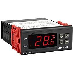Proster Thermostat Numérique Régulateur Contrôleur de Température avec Capteur STC-1000 220V Afficheur LCD Universel à l'Approbation de CE pour Aquarium Réfrigérateur Congélateur