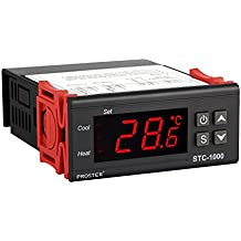 Termostato STC-1000, Proster 220V Digital Display LCD Sensor Controlador de Temperatura Termostato para Todo Uso en el Acuario de la Aprobación CE