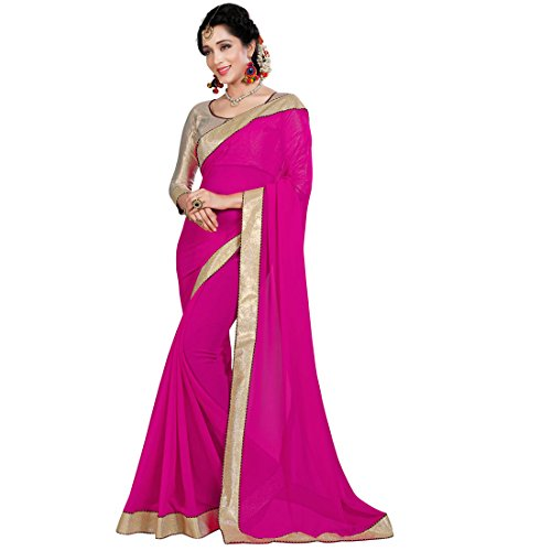 Pramukh-Suppliers-Womens-Georgette-Saree-With-Blouse-Piece-RAGINIDP-sarees-for-women-latest-design-party-wear