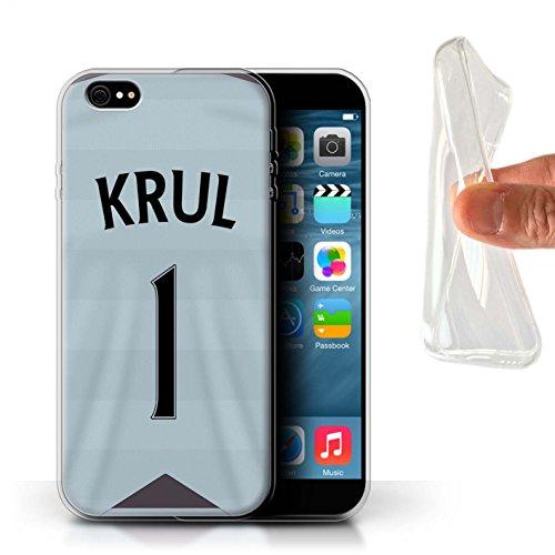 Offiziell Newcastle United FC Hülle / Gel TPU Case für Apple iPhone 6+/Plus 5.5 / Pack 29pcs Muster / NUFC Trikot Away 15/16 Kollektion Krul