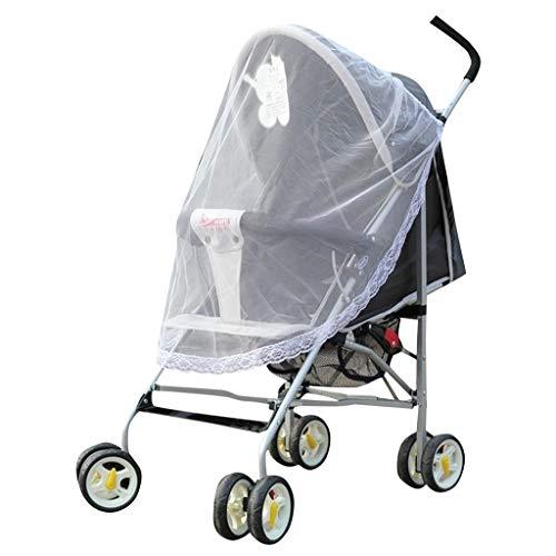 Zanzariera passeggino universale protezione dagli insetti/per carrozzina, culle, lettino da viaggio | protezione ideale da vespe & zanzare | QUALITÀ PREMIUM: robusto & lavabile | pink