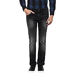 Mufti Mens Black Super Slim Fit Jeans (44)