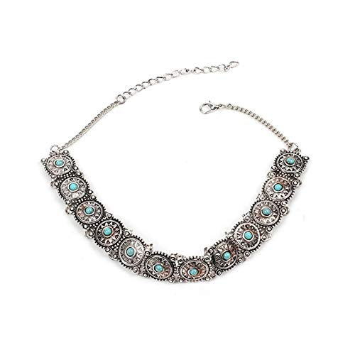 KANKOO Charme böhmischen edelstein einstellbar Halskette Choker Kragen Halskette für Damen mädchen Frauen Party zubehör