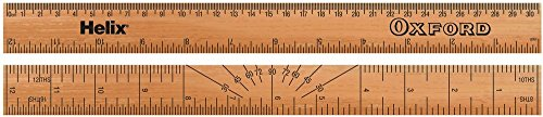 HELIX 801710 RULER, TRADITIONAL WOODEN, 30CM, OXFORD New