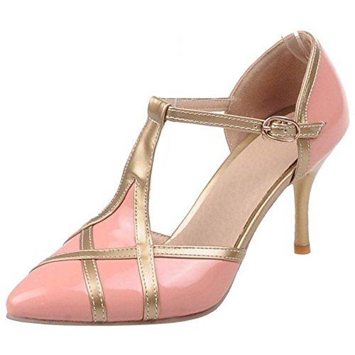 Zanpa Donna Mode T Strap Sandali 2#Pink