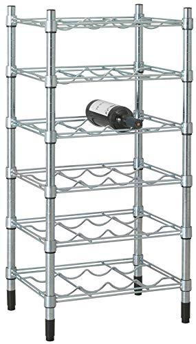 Mobile cantinetta portabottiglie Ikea Omar galvanizzato porta bottiglie vino spumante acqua in acciaio ferro e metallo cromato regolabile componibile per casa cantina cucina salotto bar ristorante