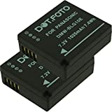 2 x Dot.Foto Batterie de qualité pour Panasonic DMW-BLE9, DMW-BLE9E, DMW-BLG10, DMW-BLG10E - 7,2v / 1025mAh - garantie de 2 ans - Panasonic Lumix DMC-GF3, DMC-GF5, DMC-GF6, DMC-GX7, DMC-GX80, DMC-GX85, DMC-LX100, DMC-TZ80, DMC-TZ81, DMC-TZ100, DMC-TZ101