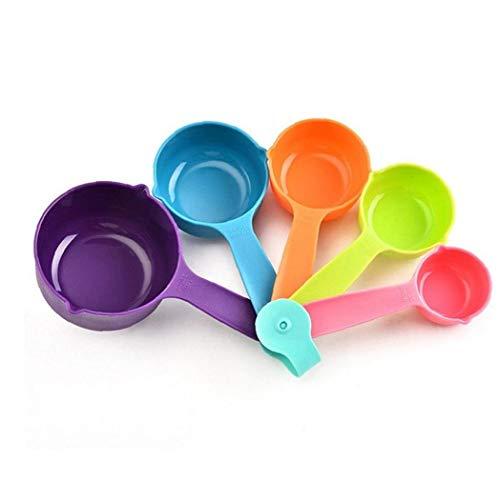 Byfri 5Pcs Plastikmessbecher Löffel Kaffee Zucker Scoops Backzutaten Mehl, Kaffee, Tee Messen Utensil Küchenmesswerkzeug