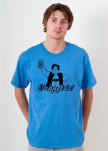 Preisvergleich Produktbild Oktoberfest T-Shirt O´zapft is! Herren Shirt W4 Farbe Sapphire S - XXL Druckfarbe: schwarz - Gr. XXL