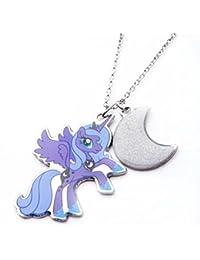 My Little Pony - Colgante doble de acero inoxidable, diseño de Mi pequeño pony