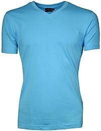 Signum Herren T-Shirt mit V-Ausschnitt I 100% Baumwolle I Mehrere Farben I Normale Passform I Größen S - XXXL (Übergröße)