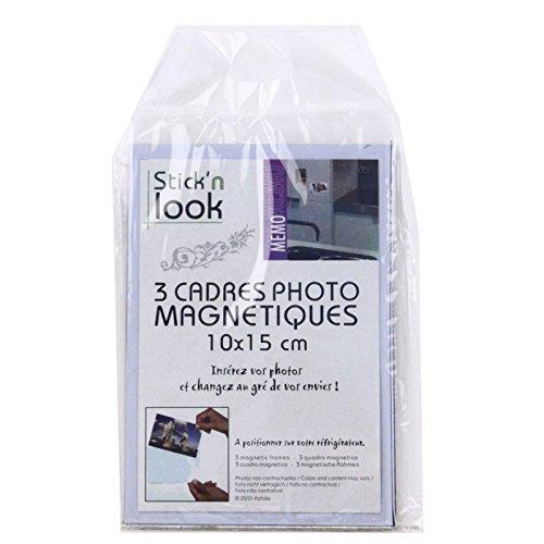Cadres photos magnétiques 10 x 15 cm - Lot de 3 - Sticker photo