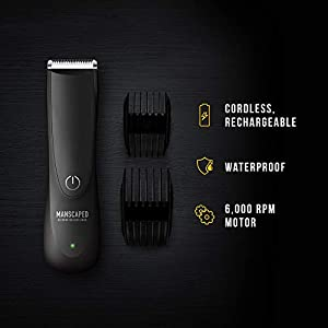 Best Electric Manscaping Groin Hair Trimmer, Lawn Mower 2.0 by Manscaped, Replaceable Ceramic Blade Heads, Waterproof Wet/Dry Clippers, Rechargeable Built-in Battery, Ultimate Male Hygiene Razor