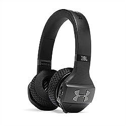 JBL Under Armour Sport Wireless Train - Bluetooth Kopfhörer - Wireless Noise Cancelling Headphones kabellos - On Ear Kopfhörer in Schwarz/Grau