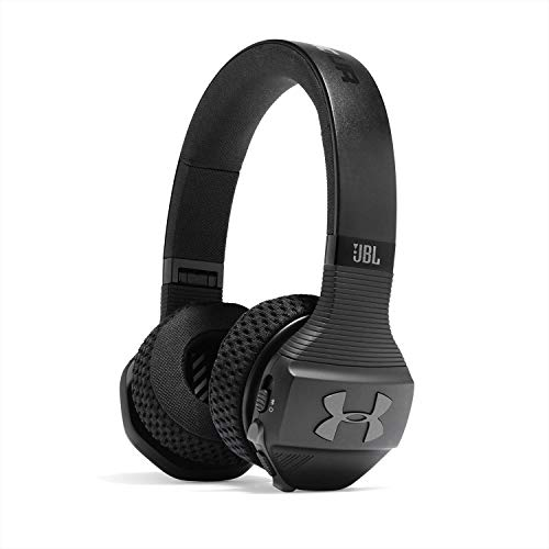 Under Armour Sport Wireless Train by JBL - Casque de sport sans fil supra-auriculaire - Casque Bluetooth autonomie 16hrs - Noir / Gris