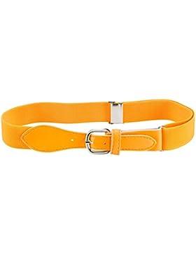 Kids elástica ajustable Strech Cinturón con cierre de piel (disponible en 21colores)
