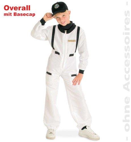 Overall Kostüm Farmer - Gurimo-Tex 10062 Kinder Kostüm Overall Astronaut mit Basecap 4 Größen (128)