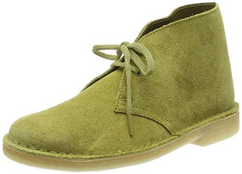 Clarks Damen. Desert Boot, Grün (Khaki Suede), 38 EU