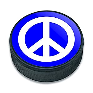 EISHOCKEY Puck Peace Sign Symbol