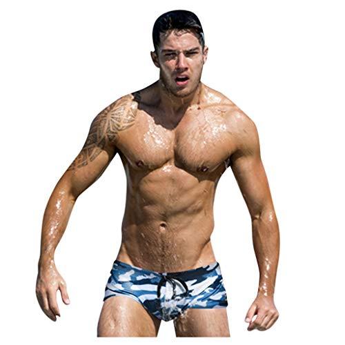 Sylar bañadores para Hombre Camuflaje bañador de natación Alta Elasticidad Pantalones de Playa Cortos...