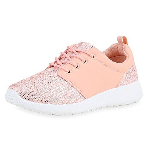 best-boots Unisex Damen Laufschuhe Fitness Sneaker Sport Turnschuhe Damen Sportschuhe Rosa Glitzer Nuovo 38