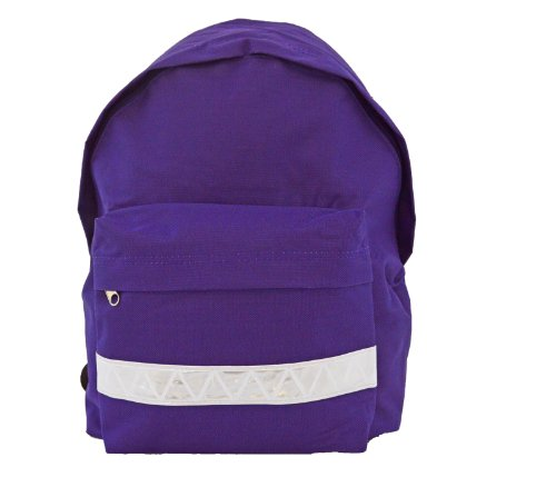 euro-childrens-rucksack-backpack-bag-in-9-colours-with-safety-strip-purple