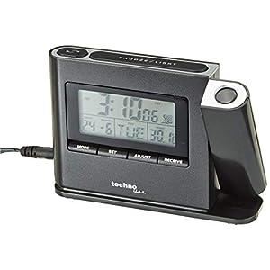 Projektionswecker WT 519 mit Funkuhr, Innentemperaturanzeige und Datumsanzeige