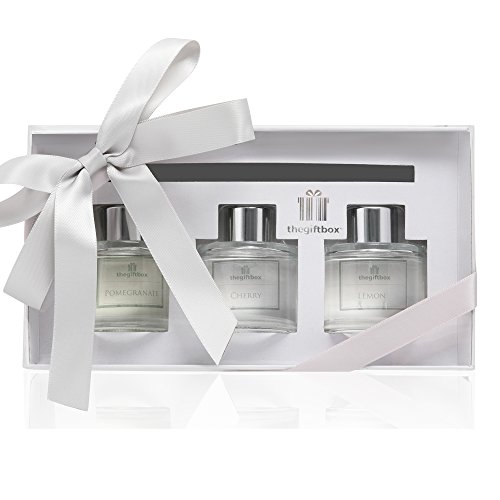 06b2ae2645ff5 The Gift Box Scented Reed Diffuser Air Freshener Gift Set in Gift Box. 3 x