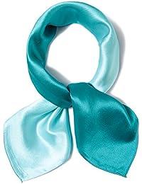 Felix   SiLK Mujer Niña 100% Seda de Mora Color de Degradado Bufanda  Fulares Bufanda de Cuello Bandana Bufanda Cuadrada Pañuelo… 17fd00b077a