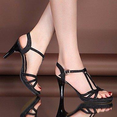 RUGAI-UE Donne sandali PU Scarpe Casual Tacchi Alti,loro,US5 / EU35 / UK3 / CN34 Gold