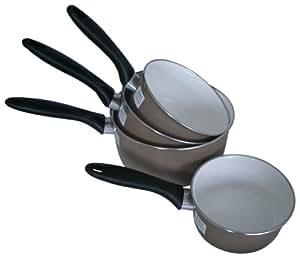 Beka 14396994 Taupe Série de 5 Casseroles en acier émaillé 12/20 cm