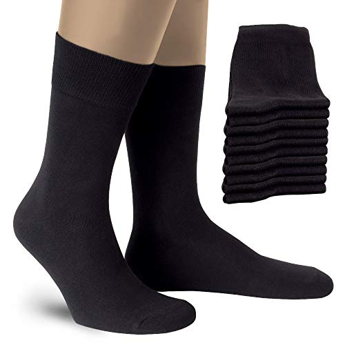 ALL ABOUT SOCKS Herrensocken 47-50 Business Socken Herren Schwarz (10er Pack) Gr. 47 48 49 50 Dünne Herrenstrümpfe Schwarze Strümpfe Männer Business Casual Anzug Socken Anzugsocken Baumwolle